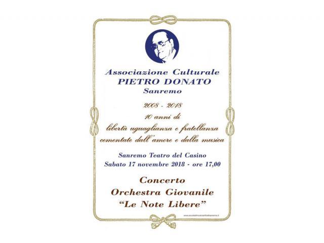10° Anniversario Associazione  Pietro Donato di Sanremo