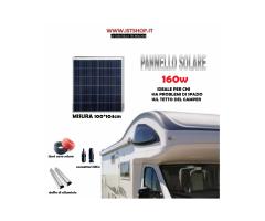 Pannello Fotovoltaico 160W kit completo
