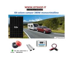 Pannello Fotovoltaico 280W monocristallino kit completo