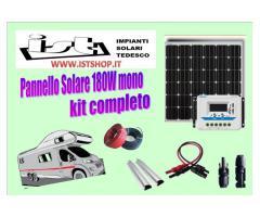 Pannello Fotovoltaico 180W monocristallino kit completo