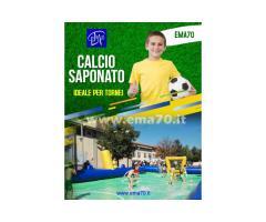 NOLEGGIO CALCIO  SAPONATO GONFIABILE