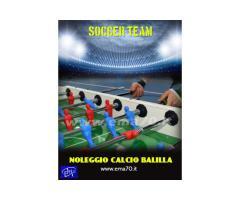 NOLEGGIO CALCIO BALILLA 2 CONTRO 2