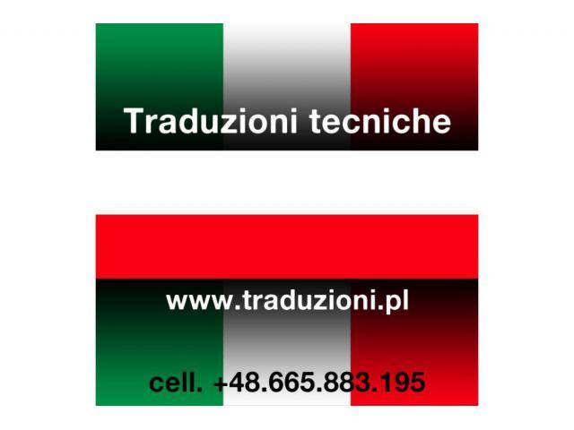 Polacco - traduzioni tecniche italiano polacco in Polonia