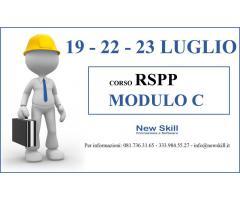 Corso RSPP Mod. C alla New Skill