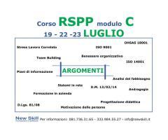 Corso RSPP Modulo C alla New Skill