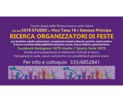 Ricerchiamo organizzatore feste/segreteria artistica