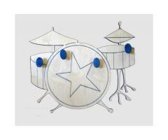 appendiabiti in legno - drum