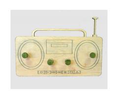 appendiabiti in legno - radio