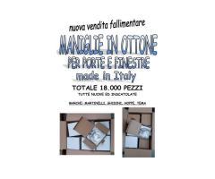 Stock maniglie in ottone made in Italy 18000 pezzi
