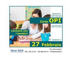 Corso OPI - Operatore dell'Infanzia alla New Skill