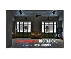 Lezioni di recitazione condotte da Davide Giordano
