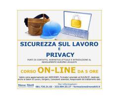 Corso Sicurezza sul Lavoro e Privacy On-Line