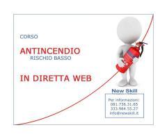 Corso Antincendio Rischio Basso in Diretta Web