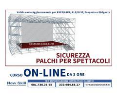 Corso Sicurezza nei Palchi per Spettacoli On-line