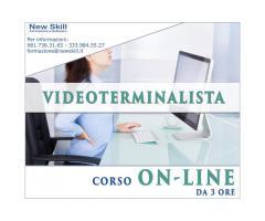 Corso Videoterminalista On-Line