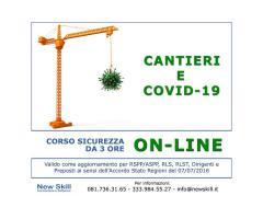 Corso Sicurezza Cantieri Covid-19 On-Line