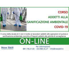 Corso Addetti alla Sanificazione Ambientale Covid-19