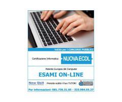 Certificazione Informatica NUOVA ECDL - Esami On-Line