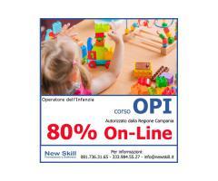 Corso Operatore dell'Infanzia - 80% On-Line