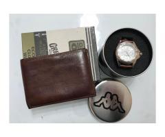 Portafoglio + Orologio Kappa