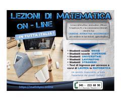 LEZIONI DI MATEMATICA INTERATTIVE ..IN TUTTA ITALIA !
