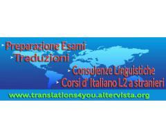 Corsi di italiano L2 + Traduzioni freelance