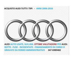 Audi auto e 4x4 usate acquisto