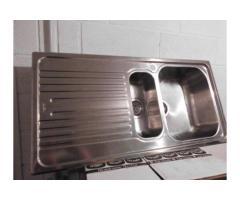 Lavello acciaio inox 2 buche differenti