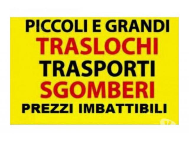 ROMA TRASLOCHI TRASPORTI E SGOMBERI OVUNQUE PREZZI INIMITABILI 7GG SU7 TEL. 342-7746104