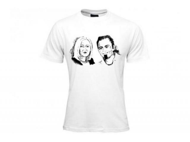 T-shirt personalizzata unica pittura su tessuto manica corta uomo donna bianca Italia firmata