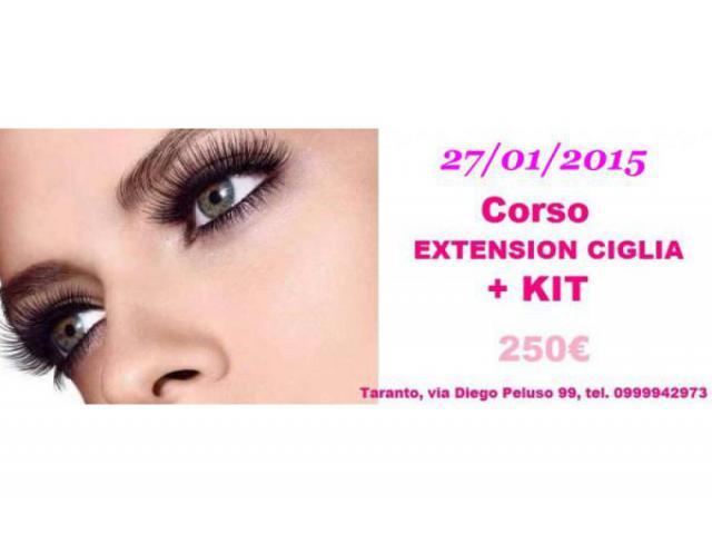CORSO EXTENSION CIGLIA + KIT