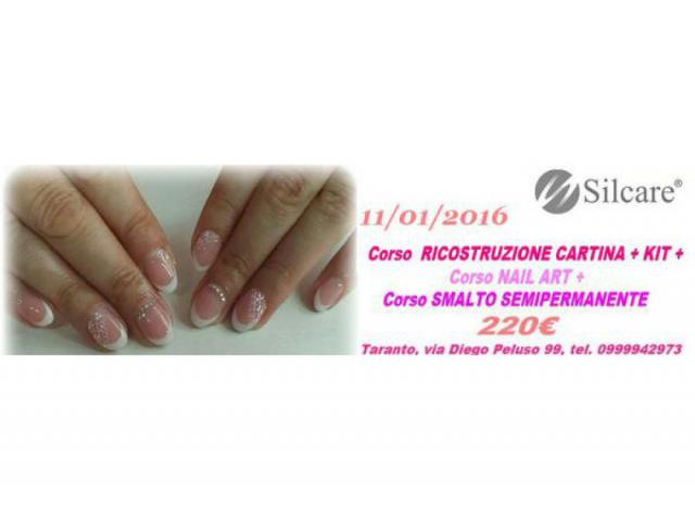 CORSO CARTINA+ NAIL ART+  SMALTO SEMIPERMANENTE