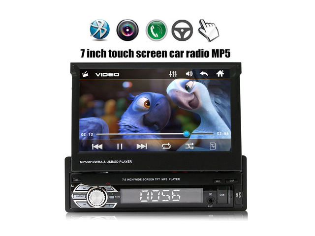 Autoradio 1 Din con Display da 7 Pollici a Scomparsa