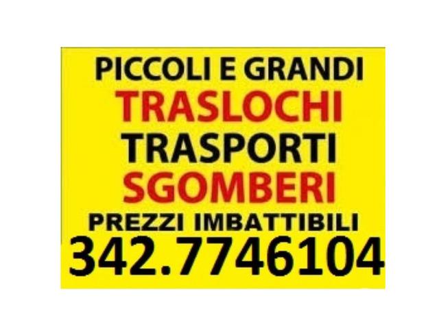 TRASLOCHI TRASPORTI E SGOMBERI ECONOMICI 7GG SU7
