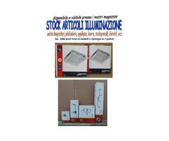 Stock lampadari e illuminazione 1080pezzi